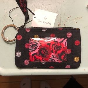 Vera Bradley key chain wallet
